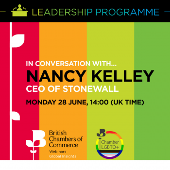 In conversation with Nancy Kelley, CEO of Stonewall