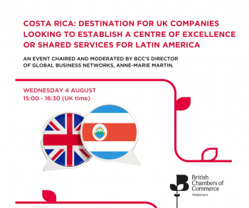 Costa Rica: Destination for UK Companies looking to establish a Centre of Excellence or Shared Services for Latin America